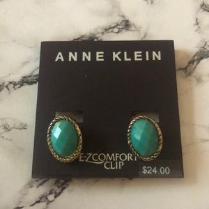 Anne Klein turquoise clip on earrings